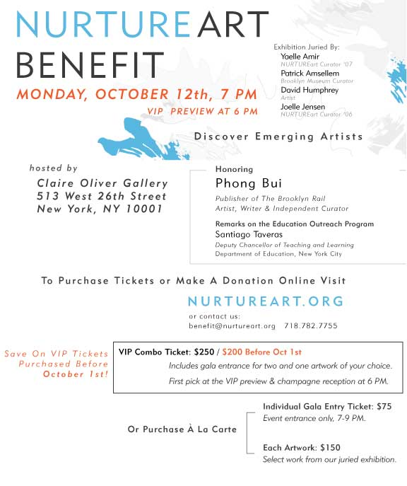 Nurture Art Benefit October 12, 2009