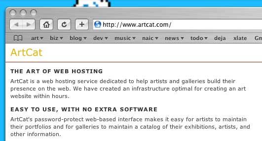 artcat web hosting